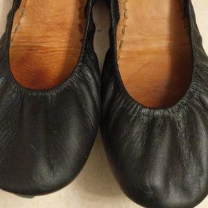 Tieks Matte Black Leather Flats  Sz 8